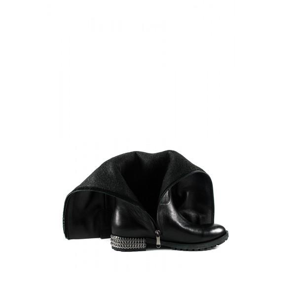 Сапоги демисезонные женск Passio 419-53-01-1 черная кожа