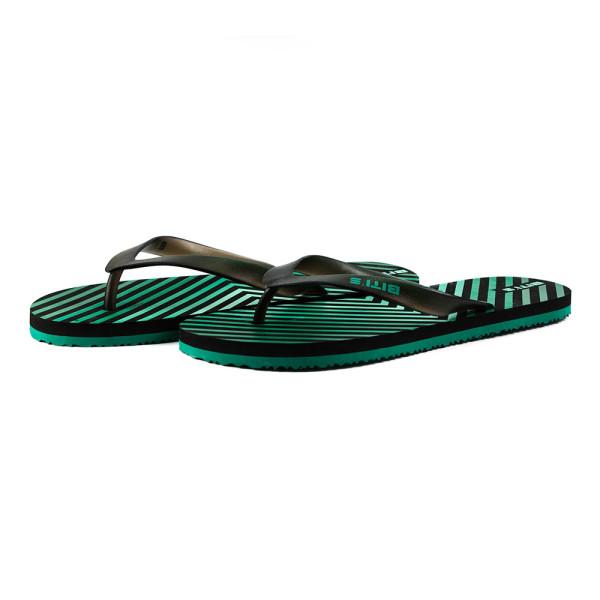 Шлепанцы мужские Bitis 8182-Е черно-зеленые