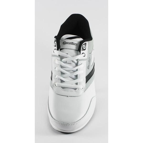 Кроссовки мужские Restime  PMB14126 Бело-серый