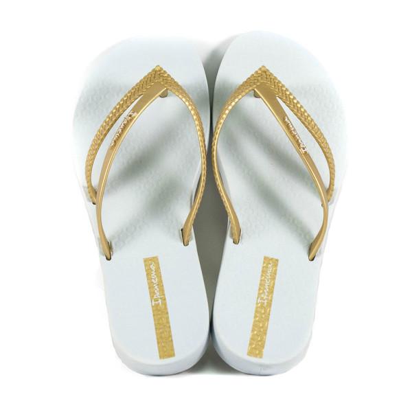 Вьетнамки женские Ipanema 82067-21241 бело-золотые