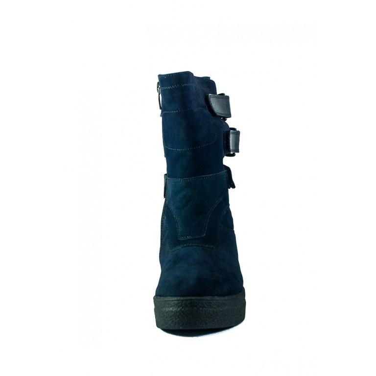 Ботинки зимние женские MIDA 24659-12Ш темно-синие