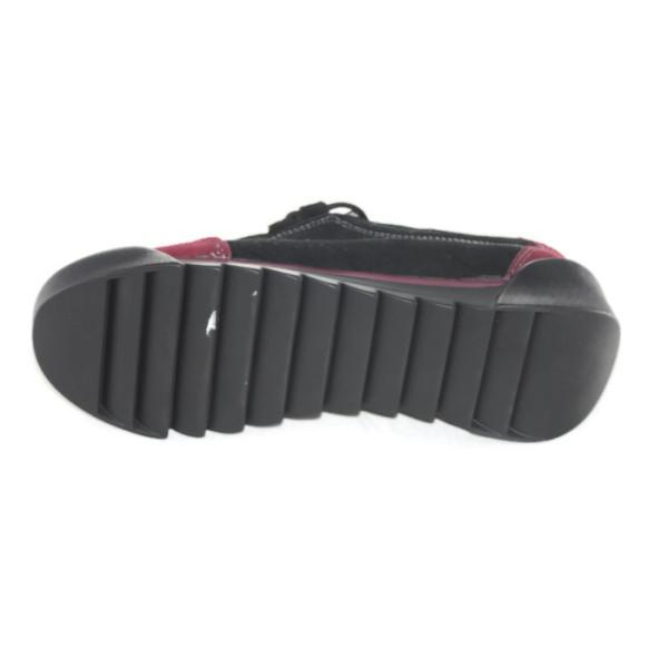 Кроссовки женские Allshoes LO350 черно-бордовый