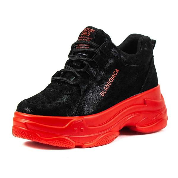 Кроссовки женские Lonza HLN780 черно-красные