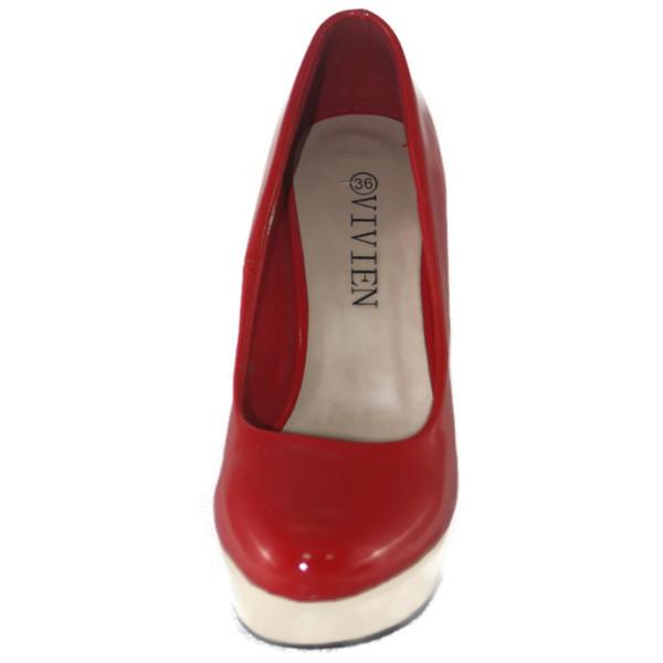 Туфли женские Vivien Q2-1415Т красно-белый