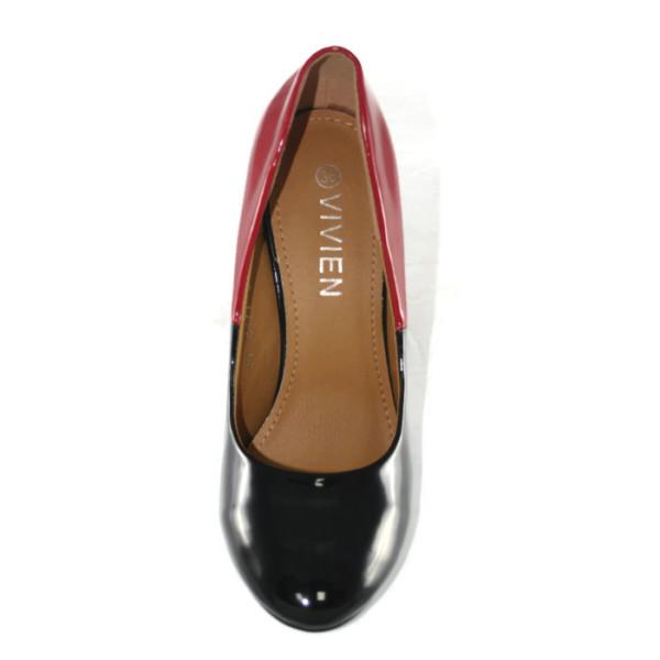Туфли женские VivienQ2-1417Т черно-красный