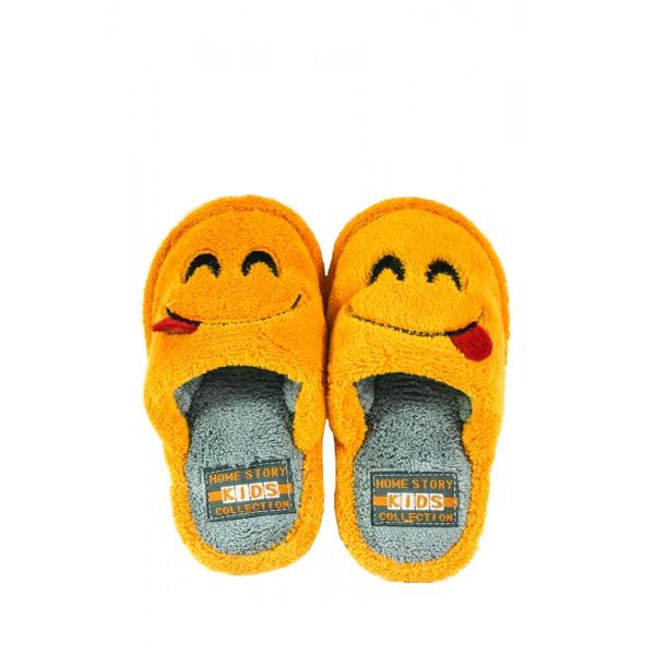 Тапочки комнатные детские Home Story 201058-Е оранжевые