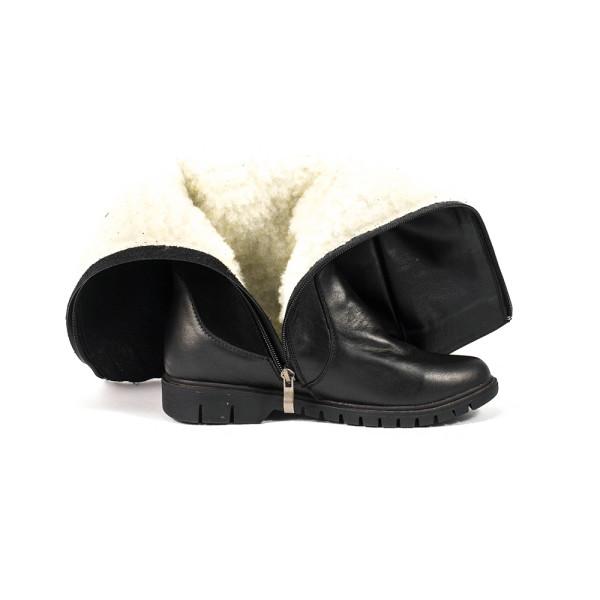 Сапоги зимние женские Vakardi V287 черная кожа-замша
