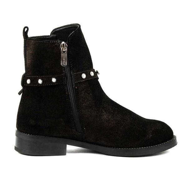Ботинки зимние женские CRISMA CR2908-9211-11 темно-коричневая замша