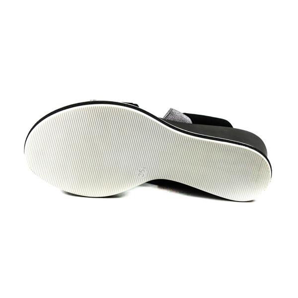 Босоножки женские Sopra W17-5913 черно-серебрянные