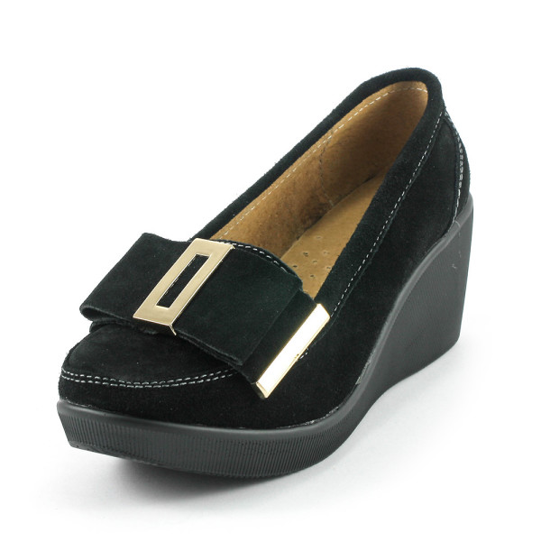 Туфли женские Lifexpert 79605 черная замша