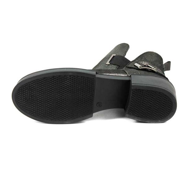 Ботинки демисезон женские CRISMA CR1817N темно-серебряная кожа