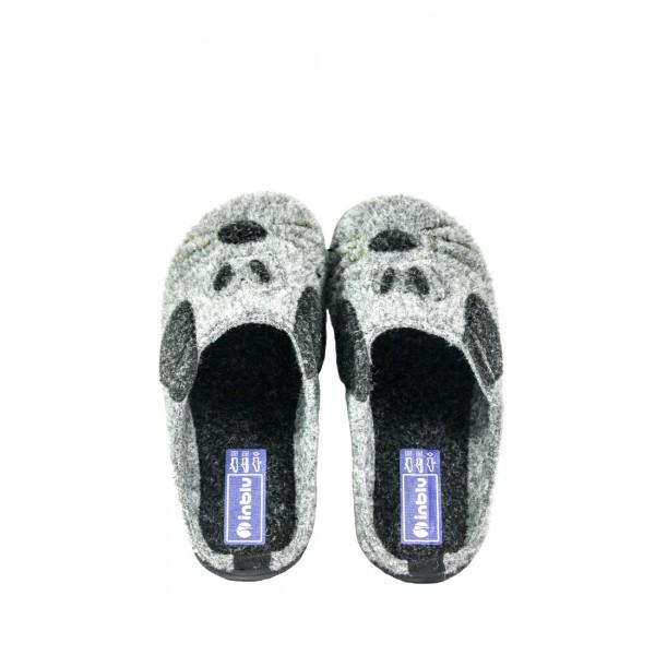 Тапочки комнатные женские Inblu B9-6S черно-серые