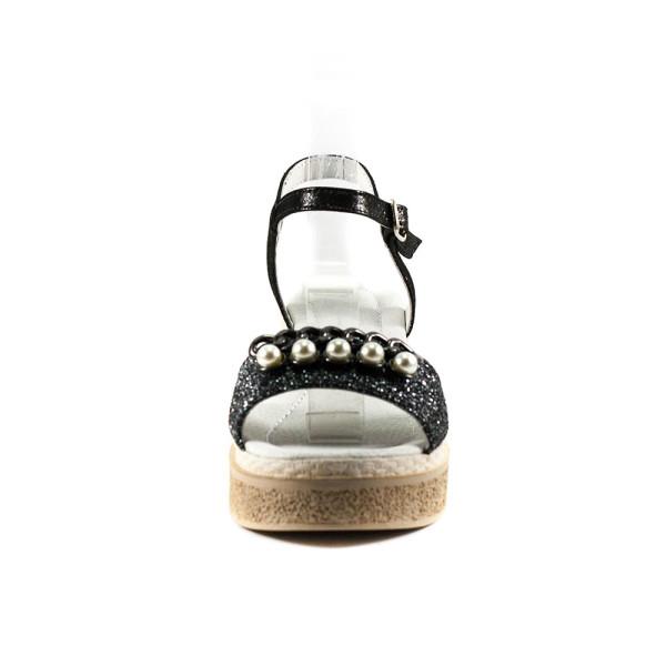 Босоножки женские Camelfo 60-2 черное серебро