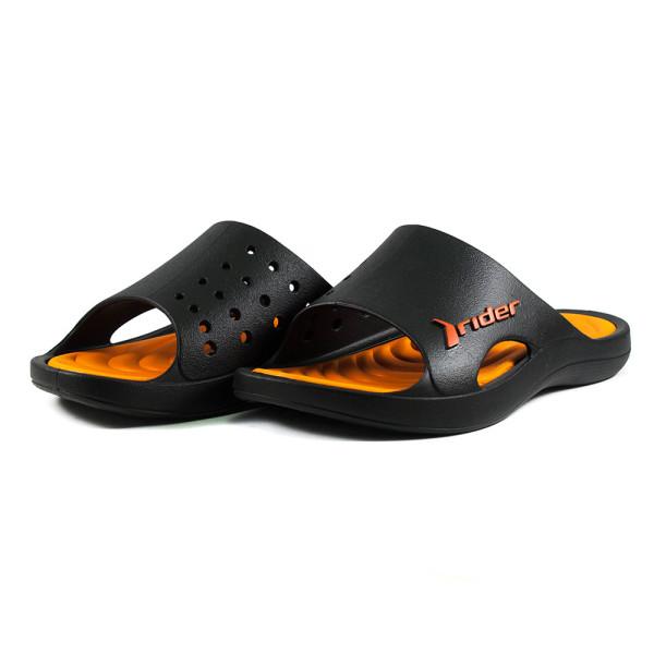 Шлепанцы мужские Rider 82566-20757 черно-оранжевые