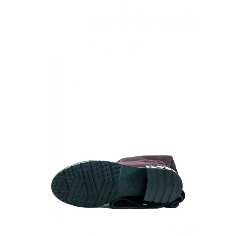 Сапоги демисезонные женские MIDA 22289-232 бордовые