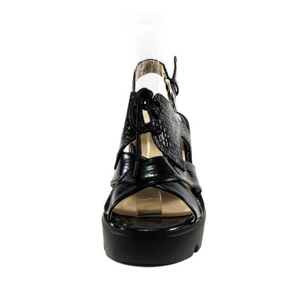 Босоножки женские Sopra 5063-64AL черный глянец