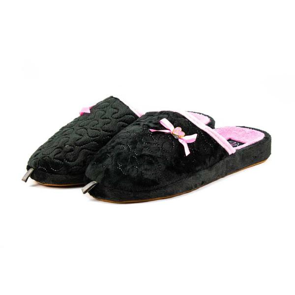 Тапочки комнатные женские Home Story 81809-AC черно-розовые