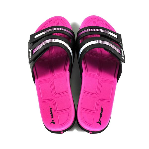 Шлепанцы женские Rider 82503-20753 розово-черные