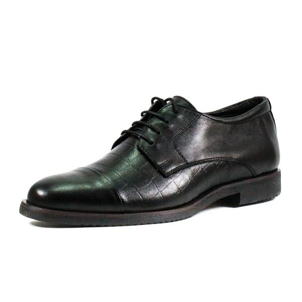 Туфли мужские MIDA 110428-1 черная кожа