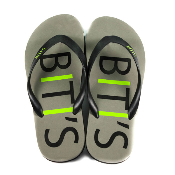 Шлепанцы мужские Bitis 9179-Е серо-салатовые