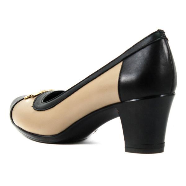 Туфли женские Vakardi V119-1 темно-бежевая кожа