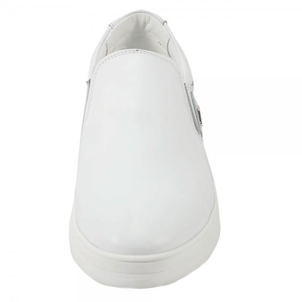 Слипоны мужские Armando 19 Б белая кожа