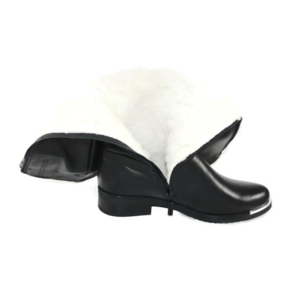 Сапоги зимние женские Vakardi V719 черная кожа