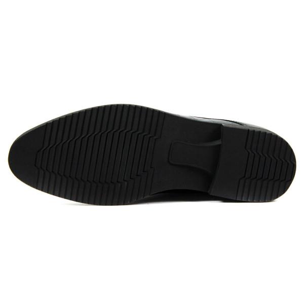 Туфли мужские MIDA 110428-566 черная кожа