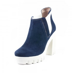 Ботильоны демисез женск Tutto Shoes T5936 синяя замша