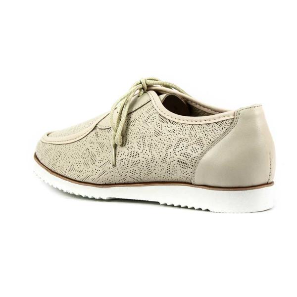 Туфли женские MIDA 21699-14 светло-бежевая кожа