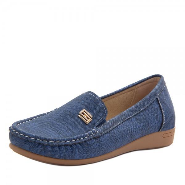 Мокасины женские Optima MS 21593 синий