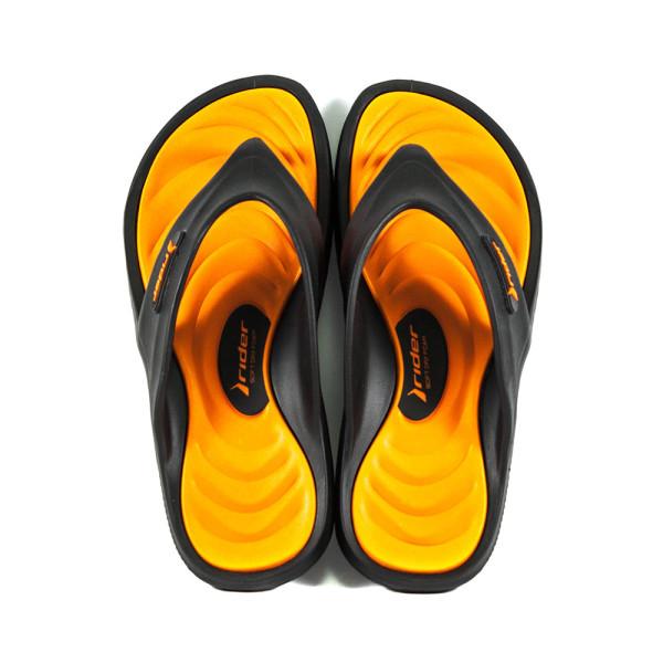 Шлепанцы мужские Rider 82564-20757 черно-оранжевые