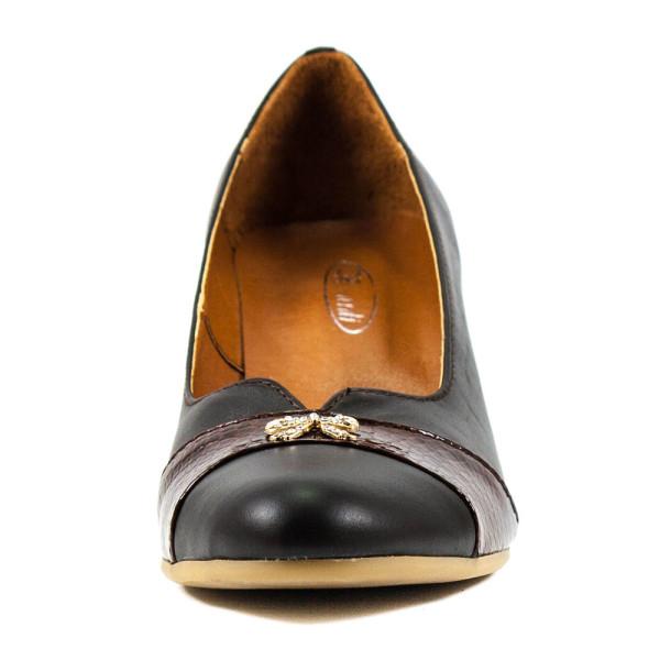 Туфли женские Vakardi V121-1 темно-коричневая кожа