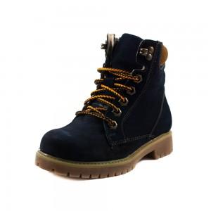 Ботинки детские MIDA 44064-12Ш темно-синий нубук
