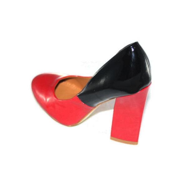 Туфли женские Vivien Q2-1416Т красно-черный