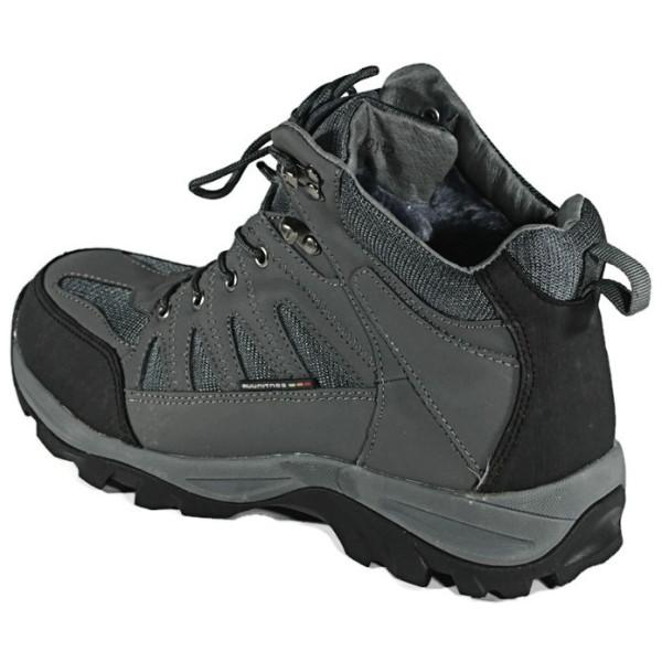Ботинки зимние  мужские Restime NMZ 13501 серые