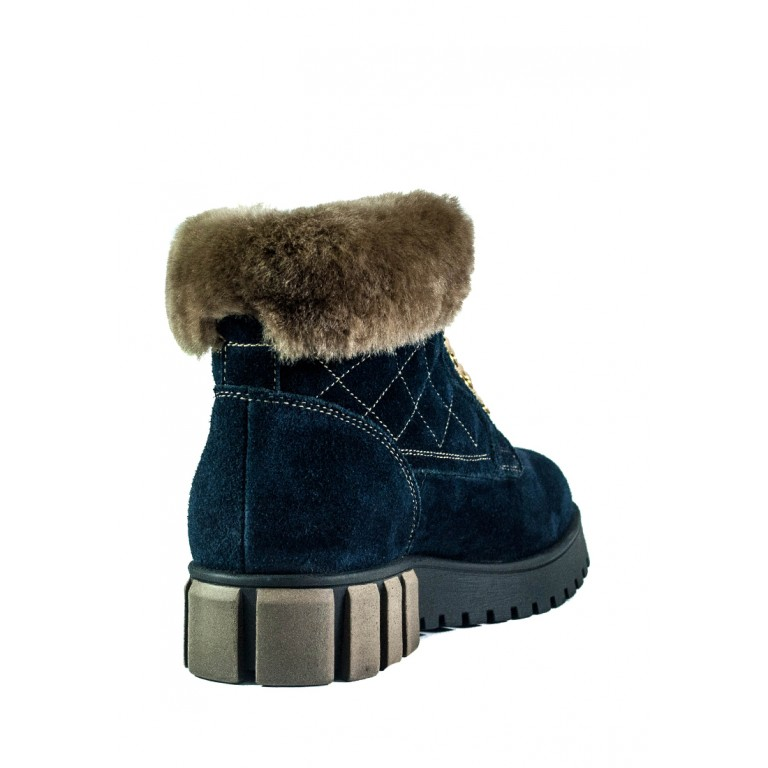 Ботинки зимние женские MIDA 24787-250Ш темно-синие