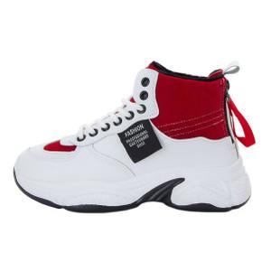 Ботинки женские Standart MS 22350 белый, красный