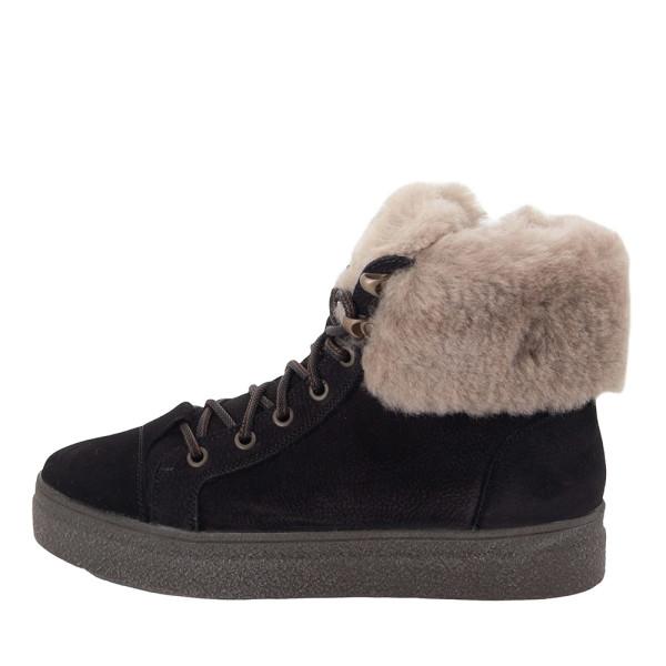 Ботинки женские MIDA MS 22429 черный