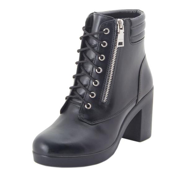 Ботинки женские Milanti MS 22457 черный