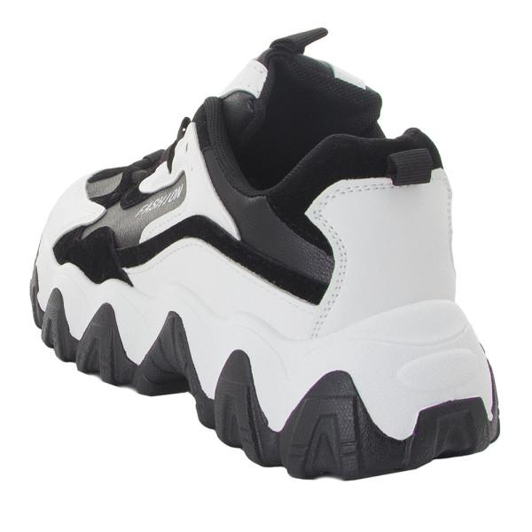 Кроссовки женские Standart MS 22245 черно-белые