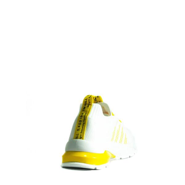 Кроссовки летние женские Sopra 279-4 бело-желтые