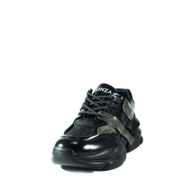 Кроссовки демисезон женские Lonza 6131 черные