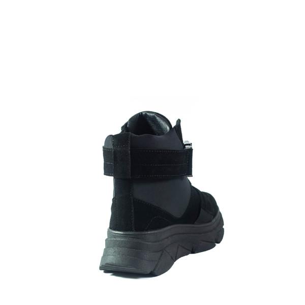 Ботинки демисезон женские Lonza 92556-2725ZTK черные