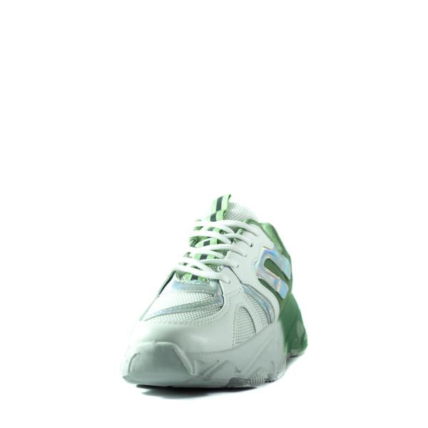 Кроссовки летние женские Sopra BK-13 бело-зеленые