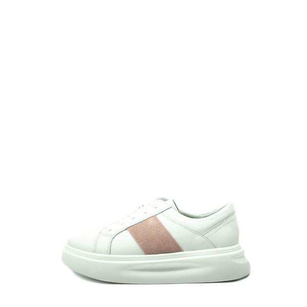 Кроссовки демисезон женские Bonavi 2F15-27-112 бело-розовые