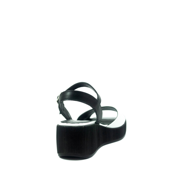 Босоножки женские летние Anna Lucci 206162-3052-1L черно-белые