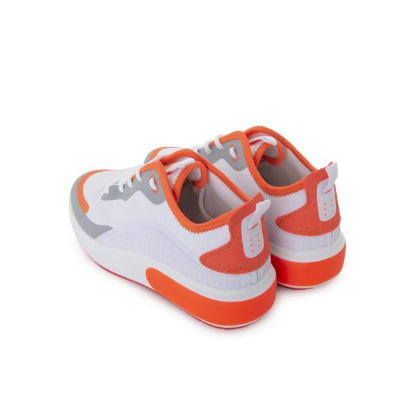 Кроссовки женские Erra MS 24057 белый, оранжевый