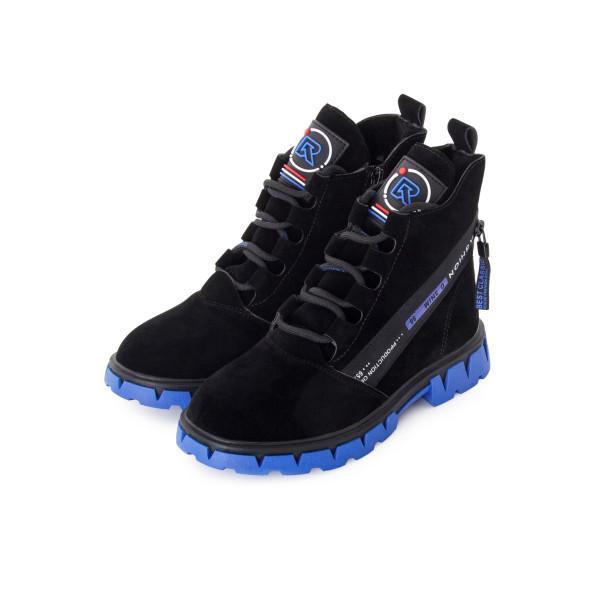 Ботинки женские Канарейка MS 24214 черный, синий