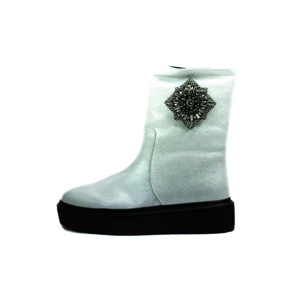Ботинки зимние женские Fabio Monelli L2026-D15-B48-JZ белые